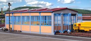 Модель трехстойлового современного депо для локомотивов.Пр-во KIBRI.Арт.39477.Масштаб НО (1:87).