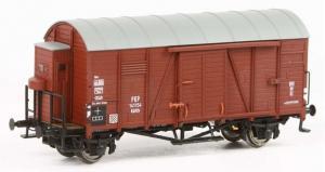 Модель 2-х осного крытого вагона с тормозной будкой.Пр-во Exact-Train.Арт.Ex20123.Масштаб НО (1:87).