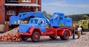 Модель экскаватора на базе грузовика MAGIRUS.Пр-ва KIBRI.Арт.14130.Масштаб НО (1:87).