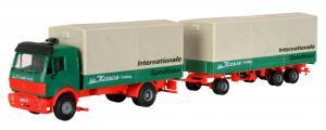 Модель 2-х осного грузовика MB с 3-х осным прицепом.Пр-во KIBRI.Арт.14639.Масштаб НО (1:87).