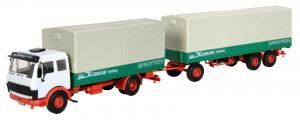 Модель 2-х осного грузовика MB с 3-х осным прицепом.Пр-во KIBRI.Арт.14640.Масштаб НО (1:87).