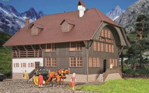 Модель альпийского дома в Rössli (Schweiz).Пр-во KIBRI.Арт.38057.Масштаб НО (1:87).