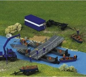 Модель понтонного моста THW.Пр-во KIBRI.Арт.38135.Масштаб НО (1:87).
