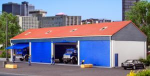 Модель гаража для 4-х грузовиков.Пр-во KIBRI.Арт.38136.Масштаб НО (1:87).