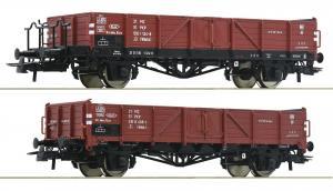 Модель 2-х вагонного сета полувагонов.Пр-во ROCO.Арт.76281.Масштаб НО (1:87).