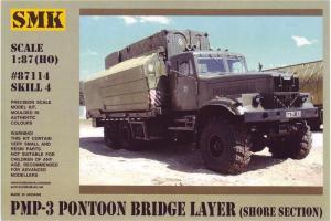 Для предзаказов!Модель КрАЗ 256 понтонный мост PMP-3,береговая секция (для самостоятельной сборки).Пр-во SMK-Z@Z.Арт.87114.Масштаб 1:87 (НО).