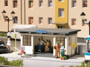 Модель городской автобусной остановки.Пр-во Аухаген.Арт.11419.Масштаб НО (1:87).