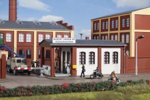 Модель здания заводской проходной.Пр-во Аухаген.Арт.11434.Масштаб НО (1:87).