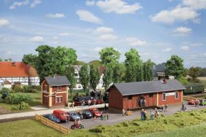 Модель ж.д. вокзала Steinbach с приспособлением для заправки паровозов.Пр-во Аухаген.Арт.11435.Масштаб НО (1:87).