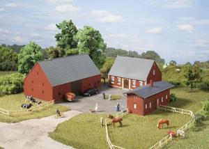Модель небольшого фермерского хозяйства.Пр-во Аухаген.Арт.11439.Масштаб НО (1:87).
