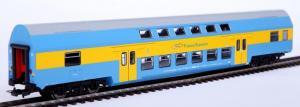 Модель 2-х этажного пассажирского вагона 2-го класса.Пр-во PIKO.Арт.97036.Масштаб НО (1:87).