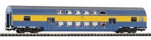 Модель 2-х этажного пассажирского вагона 2-го класса.Пр-во PIKO.Арт.97043.Масштаб НО (1:87).