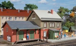 Модель ж.д. вокзала Bahnhof Hagenau.Пр-во Auhagen.Арт.13275.Масштаб ТТ (1:120).