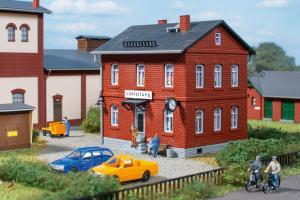 Модель дома ж.д. администрации.Пр-во Auhagen.Арт.13287.Масштаб ТТ (1:120).