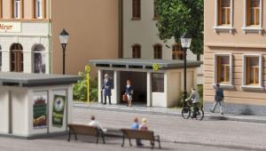 Модель 2-х автобусных остановок.Пр-во Auhagen.Арт.13330.Масштаб ТТ (1:120).