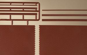 Модель кирпичной кладки имитирующей стену.Пр-во Аухаген.Арт.41205.Масштаб НО (1:87).
