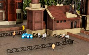 Модели промышленных и железнодорожных заборов.Пр-во KIBRI.Арт.37480.Масштаб N (1:160).