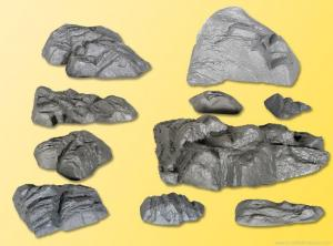 Модель набора имитации каменных скал (10штук).Пр-во KIBRI.Арт.34112.Масштаб НО (1:87).
