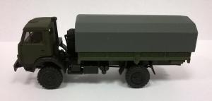 Модель КАМАЗ 4326 ( 4*4 ) вариант борт-тент.Пр-во MINITANKS.Масштаб 1:87 (НО).