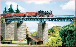 Стальной арочный мост.Арт.13325.Масштаб ТТ (1*120).