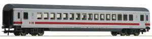 Модель пассажирского 4-х осного сидячего вагона немецких поездов IC(Inter City),вагон 2-го класса.Пр-во ROCO.Арт.54161.Масштаб НО (1:87).