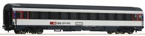 Модель пассажирского 4-х осного вагона поездов Eurocity,вагон 2-го класса.Пр-во ROCO.Арт.54167.Масштаб НО (1:87).