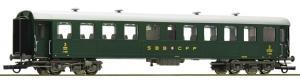 Модель пассажирского 4-х осного сидячего вагона Reisezugwagen,вагон 3-го класса.Пр-во ROCO.Арт.74528.Масштаб НО (1:87).