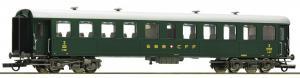 Модель пассажирского 4-х осного сидячего вагона Reisezugwagen,вагон 3-го класса.Пр-во ROCO.Арт.74529.Масштаб НО (1:87).