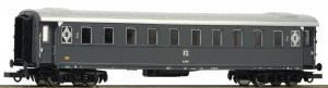 Модель 4-х осн.пассажирского вагона пассажирского поезда 2-го класса.Пр-во ROCO.Арт.74602.Масштаб НО (1:87).