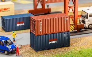 Модель 20-футового контейнера компании TRITON.Пр-во FALLER.Арт.180834.Масштаб НО (1:87).