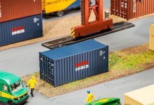 Модель 20-футового контейнера компании SEACO.Пр-во FALLER.Арт.180835.Масштаб НО (1:87).