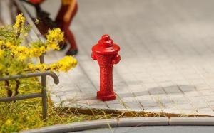 Модель 10-ти пожарных гидрантов.Пр-во FALLER.Арт.180912.Масштаб НО (1:87).