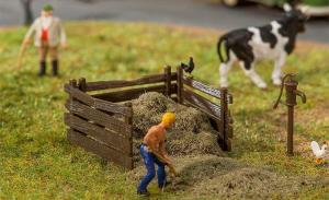 Модель деревянного ограждения для сена.Пр-во FALLER.Арт.180920.Масштаб НО (1:87).