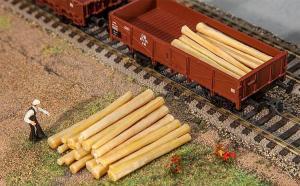 Модель 20-ти деревянных бревен.Пр-во FALLER.Арт.180925.Масштаб НО (1:87).