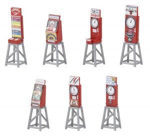 Модель 7-ми игровых автоматов в лунапарке.Пр-во FALLER.Арт.180946.Масштаб НО (1:87).