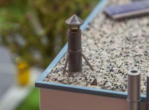 Модель 4-х дымоходов для крыши.Пр-во FALLER.Арт.180954.Масштаб НО (1:87).