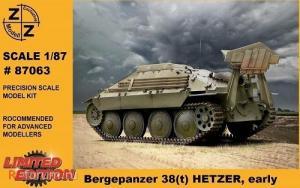 Для предзаказов!!!Модель танка Bergepanzer 38(t) HETZER early-для самостоятельной сборки.Пр-во Z@Z.Арт.87063.Масштаб 1:87 (НО).