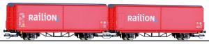 "Новинка 2018!Сет из 2-х моделей крытых вагонов ""Raillion"" DB AG.Пр-во TILLIG.Арт.01796.Масштаб ТТ (1:120)."