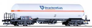 Новинка 2018!Модель 4-х осной цистерны для перевозки газа Drachen-Propangas GmbH.Пр-во TILLIG.Арт.15036.Масштаб ТТ (1:120).