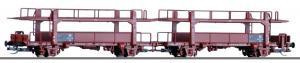 Новинка 2018!Сет из 2-х моделей вагонов для перевозки автомобилей.Пр-во TILLIG.Арт.15591.Масштаб ТТ (1:120).