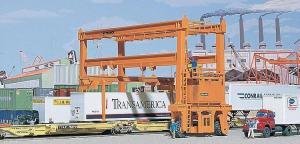 Модель мостового контейнерного крана.Пр-во Walthers (FALLER).Арт.533122.Масштаб НО (1:87).