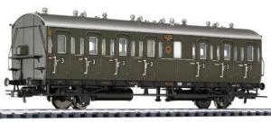 Пассажирский каретный 2-х осный вагон.Пр-во LILIPUT.Арт.334023.Масштаб НО (1:87).