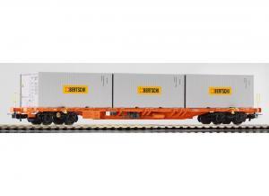 Модель 4-х осной платформы с 3-мя контейнерами 20-ка футовым компании
