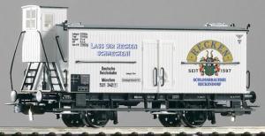 Модель 2-х осного вагона с будкой для перевозки пива.Пр-во PIKO.Арт.54940.Масштаб НО (1:87).