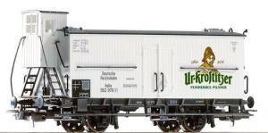 Модель 2-х осного вагона с будкой для перевозки пива.Пр-во PIKO.Арт.54947.Масштаб НО (1:87).