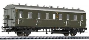 Пассажирский 2-х осный вагон-каретник.Пр-во LILIPUT.Арт.334026.Масштаб НО (1:87).