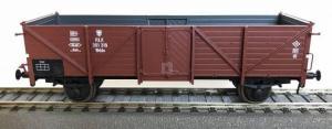 Модель 2-х осного полувагона с открывающимися дверьми.Пр-во Exact-Train.Арт.Ex20342.Масштаб НО (1:87).