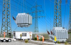 Модель 2-х трансформаторов.Пр-во KIBRI.Арт.39844.Масштаб НО (1:87).