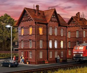 Модель жилого дома для железнодорожников.Пр-во Vollmer.Арт.43806.Масштаб НО (1:87).