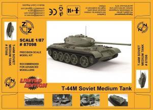 Модель танка Т-44M Soviet Medium Tank-для самостоятельной сборки.Пр-во Z@Z.Арт.87098.Масштаб 1:87 (НО).